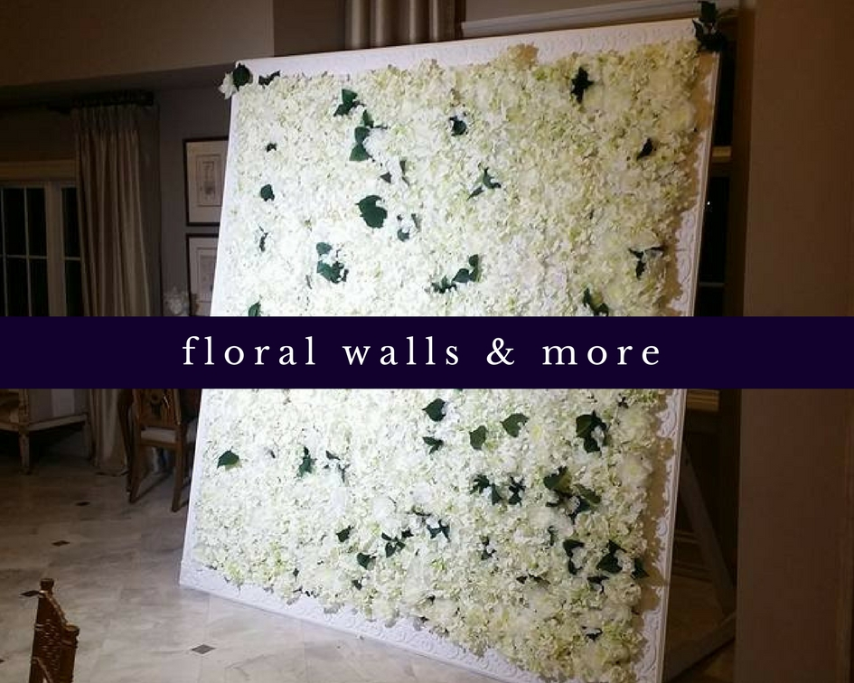 Beautiful floral wall with white flowers